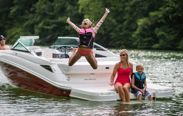 Make boating fishing a fun family affair bladen journal for Best boat for fishing and family fun